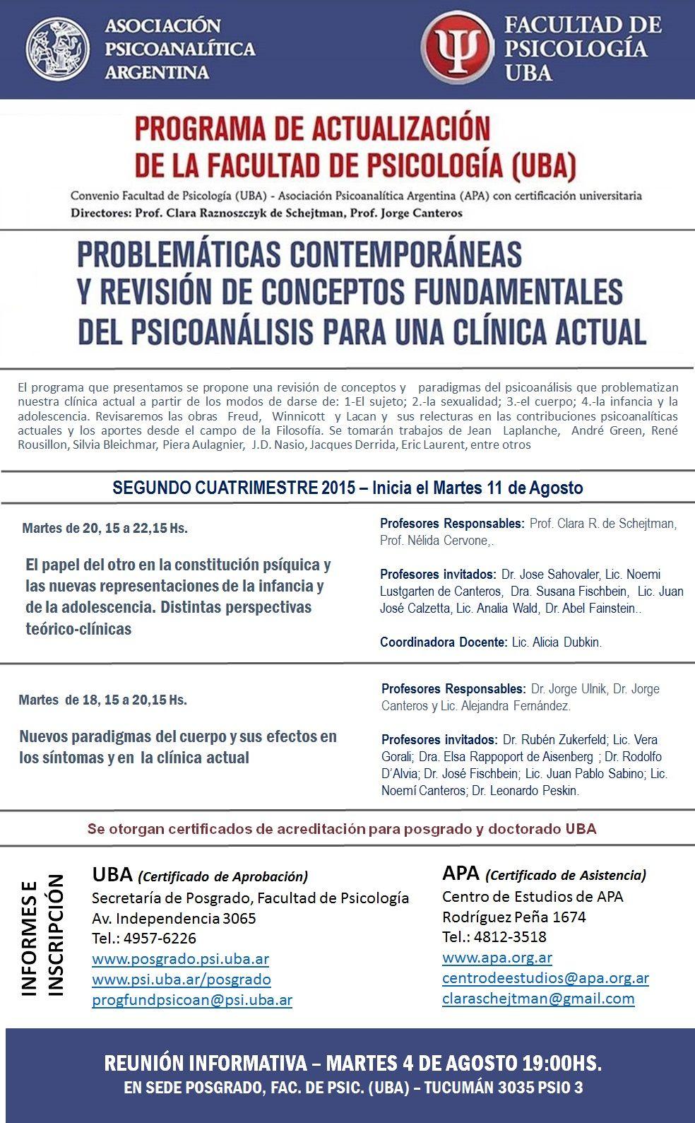 Afiche APA-UBA