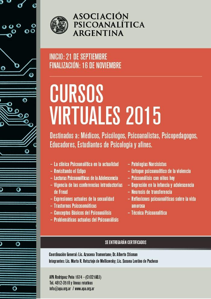 Afiche APA-CURSOS VIRTUALES 2-2015