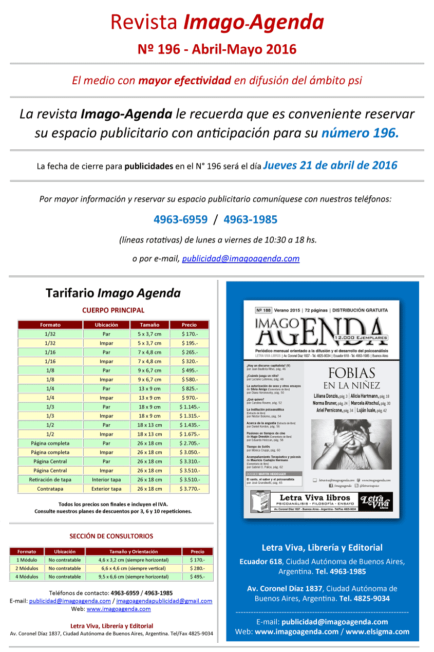 Imago Agenda 196