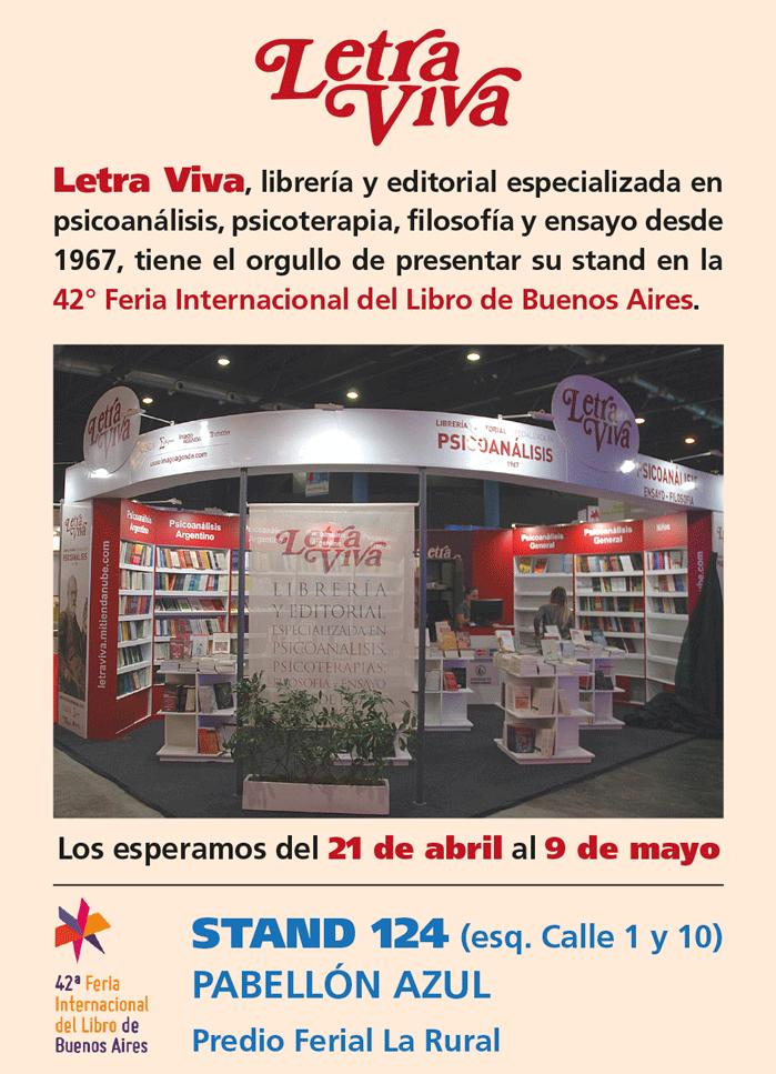 Letra Viva en la Feria del Libro 2016