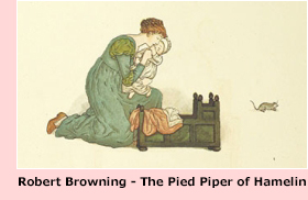 Kate Greenaway - Ilustración para 'The Pied Piper of Hamelin, de Robert Browning' (pág. 26). G. Routledge & Sons. London, 1889.