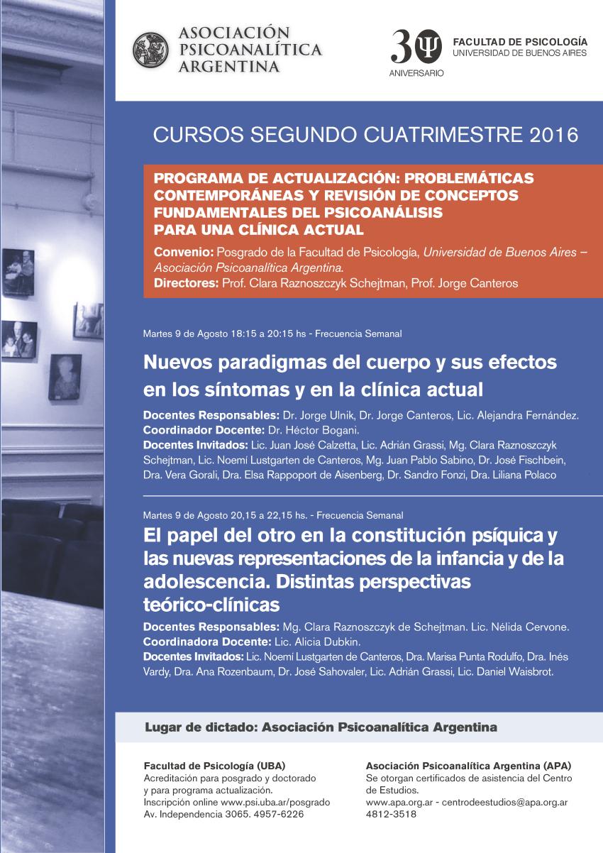 Afiche  APA-UBA-2-2016