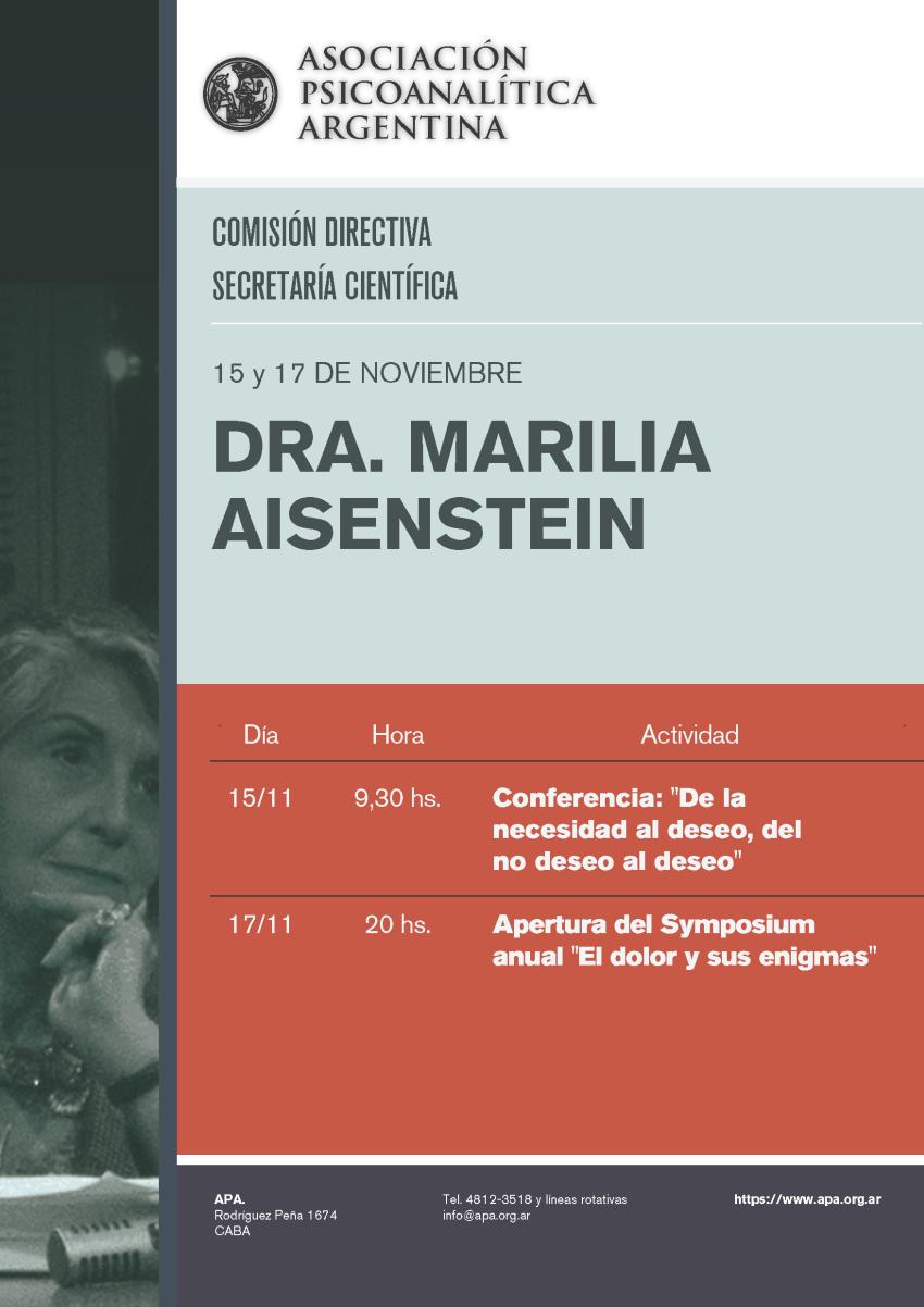 APA-Conferencia Dra. Marilia Aisenstein