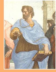 imagen Aristóteles (384-322 a.C.). Fragmento de La escuela de Atenas, Rafael (1510-1511).