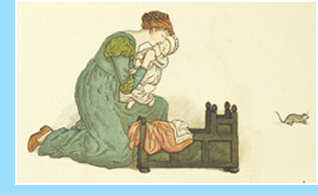 imagen Ilustración de Kate Greenaway en The Pied Piper of Hamelin de Robert Browning, London, 1889. La imagen ha sido liberada al dominio público por The British Library.