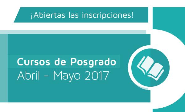 Cursos de posgrado Mayo 2017