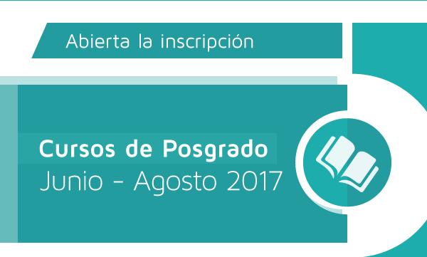 Cursos de Posgrado | Junio - Agosto 2017