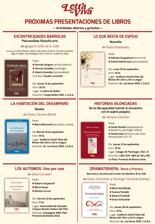 Afiche Presentaciones Letra Viva