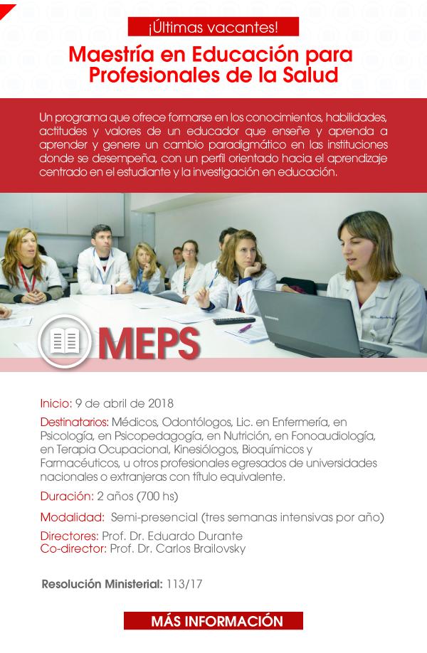 Maestría en Educación para Profesionales de la Salud