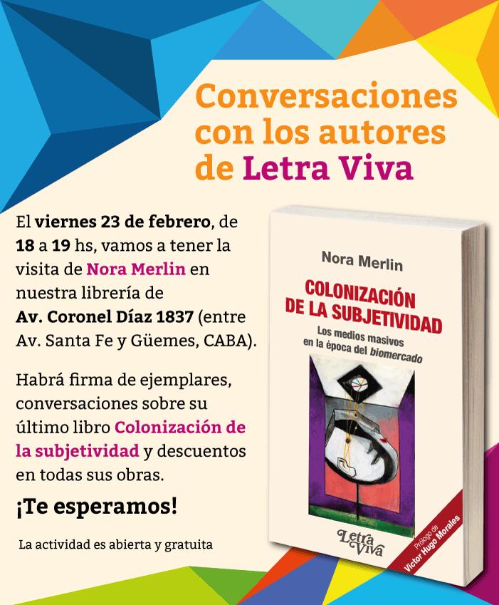 Afiche Conversaciones Letra Viva