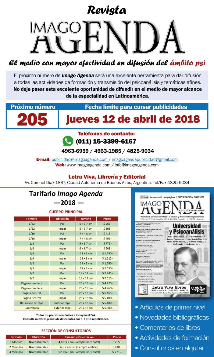 Cierre Revista Imago Agenda 205