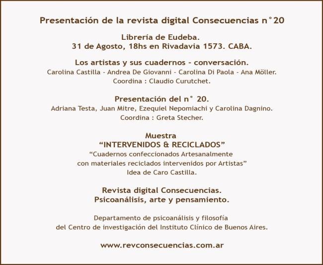 Presentación de la revista digital Consecuencias n°20