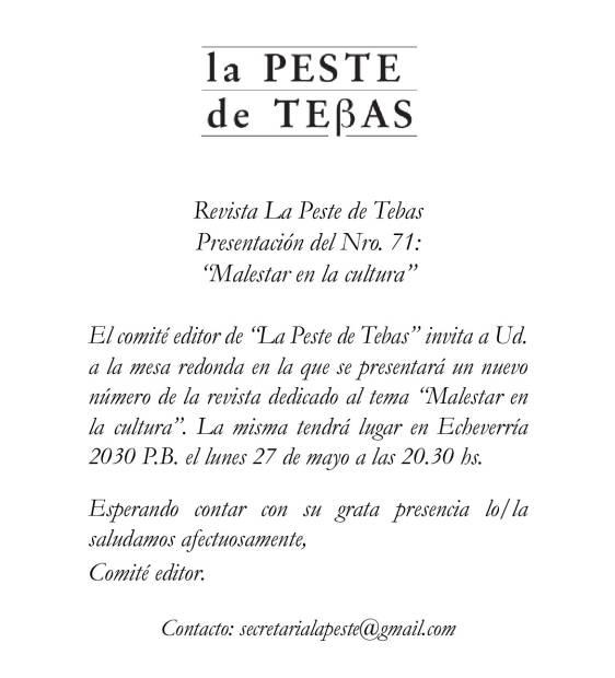 imagen invitación num. 71 peste de tebas