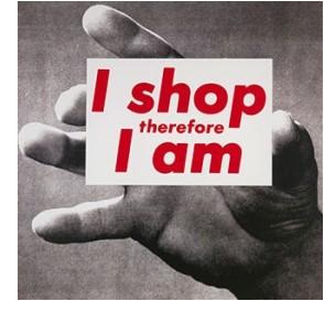imagen 'Untitled (I Shop Therefore I Am)' de Barbara Kruger, 1987.