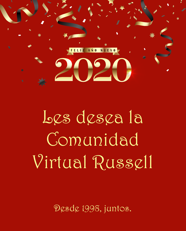 Buenos deseos de la Comunidad Virtual Russell