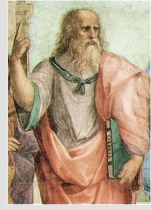 Platón (427-347 a. C.) Fragmento de La escuela de Atenas, Rafael (1510-1511).